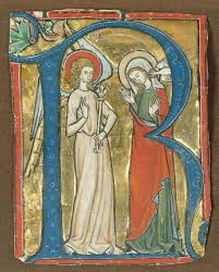 mcript illumination with the annunciation in an initial r from a gradual