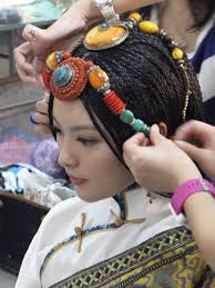 interesting tibetan s headdress