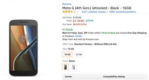 amazon 2017 black friday in review deal get moto g4 from amazon for only 120