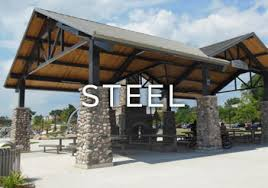 Roof Trellis Steel Shade Structures Poligon Open Air Shade Shelters