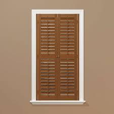 homebasics plantation faux wood oak interior shutter price varies