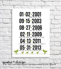 special dates print personalized family wall quote