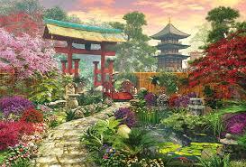 imagenes de jardines japones puzzle educa 3000 jardín japonés jardines pinterest oriental