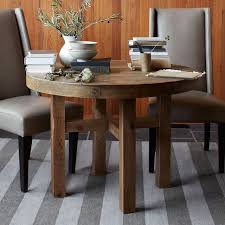 light wood round dining table emmerson reclaimed wood round dining table west elm