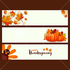 happy turkey thanksgiving day graphic banner royalty free stock