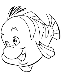 coloring pages of the little mermaid flounder from little mermaid cartoon coloring page h u0026 m