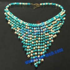 fashion beads necklace images Vogue bohemian collar style wood beads decorated neck necklace jpg