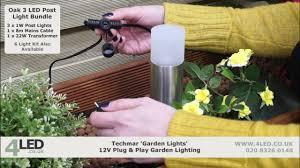 garden led post lights techmar albus garden 12v led post