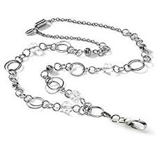 classic hand ring holder images London fashion lanyard women 39 s silver id badge jpg