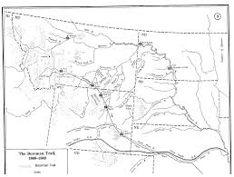 Montana Counties Map by A Brief History Of The Bozeman Trail Wyohistory Org