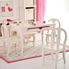 White Kids Table And Chair Set - furniture rectangle white wooden childrens tables and chairs