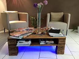 Coffee Tables With Led Lights Rustic Pallet Coffee Table Wit Led Lights Pallet Coffee Tables