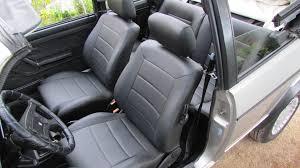 siege cuir golf 4 cabriolet mk1 siége de cuir artificiel couvre en noir