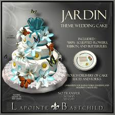 wedding cake delivery second marketplace sculpted cake jardin 3 tier cake