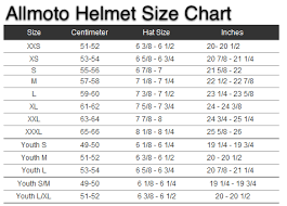 Youth Motorcycle Helmet Sizing Chart Motorcycle Parts For Quad