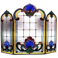 Best Fireplace Screen by Victorian Stained Glass Fireplace Screen Overstock Com Shopping