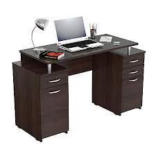 Office Depot Computer Desks Inval Computer Desk With 4 Drawers Espresso Wengue By Office Depot