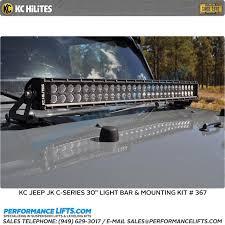 30 Led Light Bar by Kc Hilites C Series Jeep Jk Hood Mounted 30