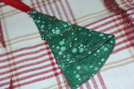 tree ornament fabric sewn ending