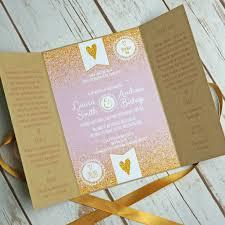 gatefold wedding invitations fairytale sparkle rustic gatefold wedding invitations bluebird