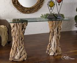 Unique Entryway Tables Inspirations Entryway Tables With Console Table Teak Root Glass