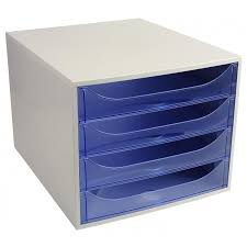 bloc de classement bureau exacompta ecobox a4 bloc de classement à tiroirs