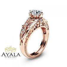 moissanite vintage engagement rings moissanite vintage engagement ring forever one moissanite ring 14k