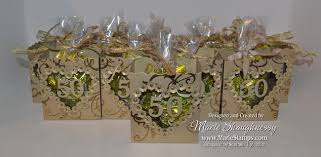 anniversary favors sting inspiration golden anniversary fancy favor boxes