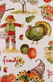 fall thanksgiving vinyl tablecloth bountiful harvest autumn images
