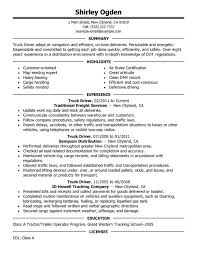 Production Operator Job Description Resume by 18 Excellent Truck Driver Resume Samples Vinodomia