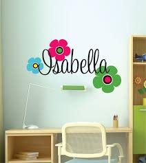 Flower Wall Decals For Nursery by Children Wall Decals Name Wall Decal Wall Decal Nursery Teen