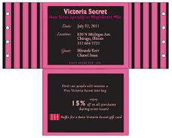 design aficionado invitation victoria secret event