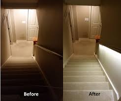 stair lighting solution with led strips drywall basements and