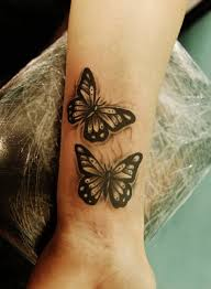 collection of 25 small butterfly on wrist
