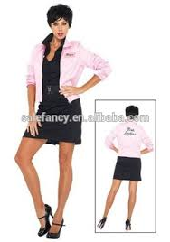 Xxxl Halloween Costumes Xxxl Fancy Dress Costumes Ladies 50 U0027s 1950 U0027s Pink Lady Leather