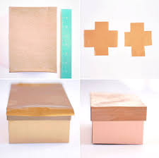 get organized with these 2 material metallic diy storage boxes