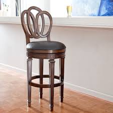 hillsdale dover 24 in swivel counter stool distressed cherry