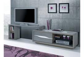 meuble tv avec bureau coin bureau en bois massif murs gris taupe meuble tl en bois se