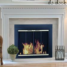 tempered glass for fireplace doors pleasant hearth arrington fireplace screen and bi fold track free
