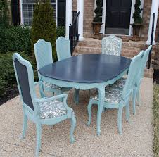 Painted Dining Room Chairs Best 25 Refinished Dining Tables Ideas On Pinterest Refurbished