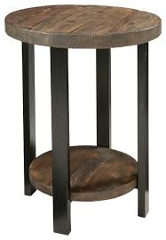 Wood Round End Table Round 3 Leg Table Side And End Tables Houzz