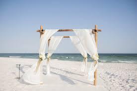Wedding Arches Beach Beach Home Wedding Janelle U0026 Jonathan In Pensacola Beach
