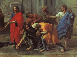 Christ Healing The Blind Jesus Healing The Blind Of Jericho Reproduction Oil Painting