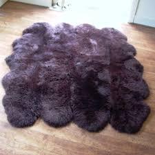 Washable Sheepskin Rug Purple Sheepskin Rug Roselawnlutheran
