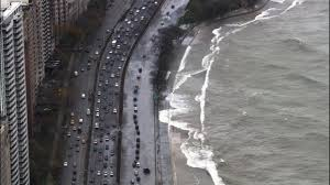 Chicago Map Traffic by Video Time Lapse Flooding On Nb Lake Shore Drive Abc7chicago Com