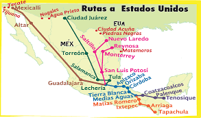 Migration Map Mexico U0027s Other Border Security Migration And The Humanitarian