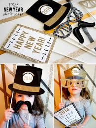 free printable new year photo props free printable holidays and