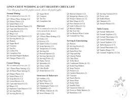 wedding shower registry checklist beautiful wedding gift registry sheriffjimonline