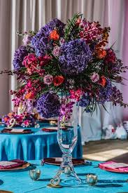 Purple Wedding Centerpieces Purple Orange And Turquoise Moroccan Inspired St Pete Wedding