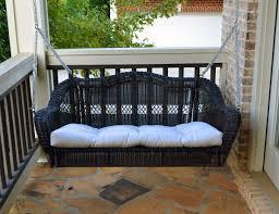 Patio Swing Cushions Portside Porch Swing Dark Roast Tortuga Outdoor